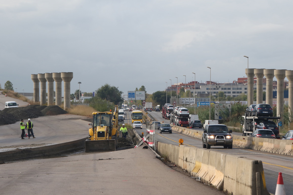 Obras del vial C-245 a Sant Boi.