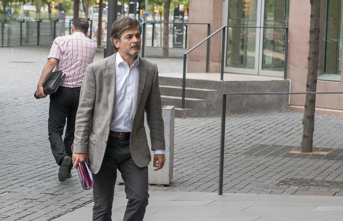 Oriol Pujol Ferrusola entrando en la Ciudad de la Justicia