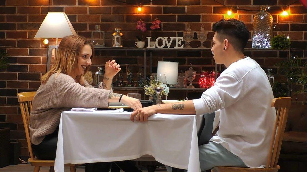 Pamela y Nacho en 'First Dates'.