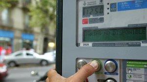 Un parquímetro de Barcelona.