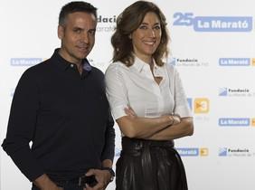 Ramon Pellicer y Helena Garcia Melero, presentadores de La Marató del 2016.