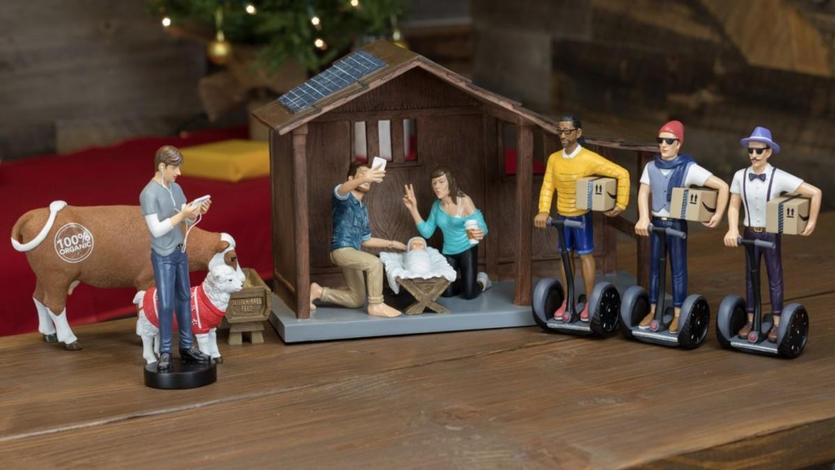 El pesebre hípster de Modern Nativity.
