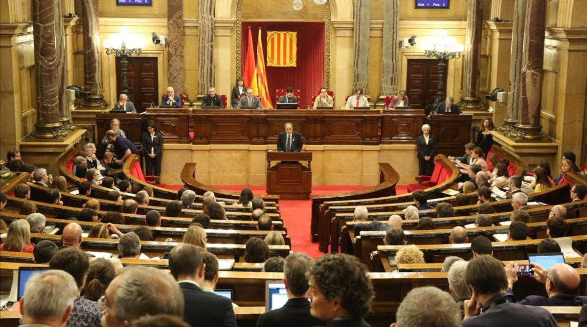 Pleno de investidura del candidato a presidente de la Generalitat, Quim Torra.
