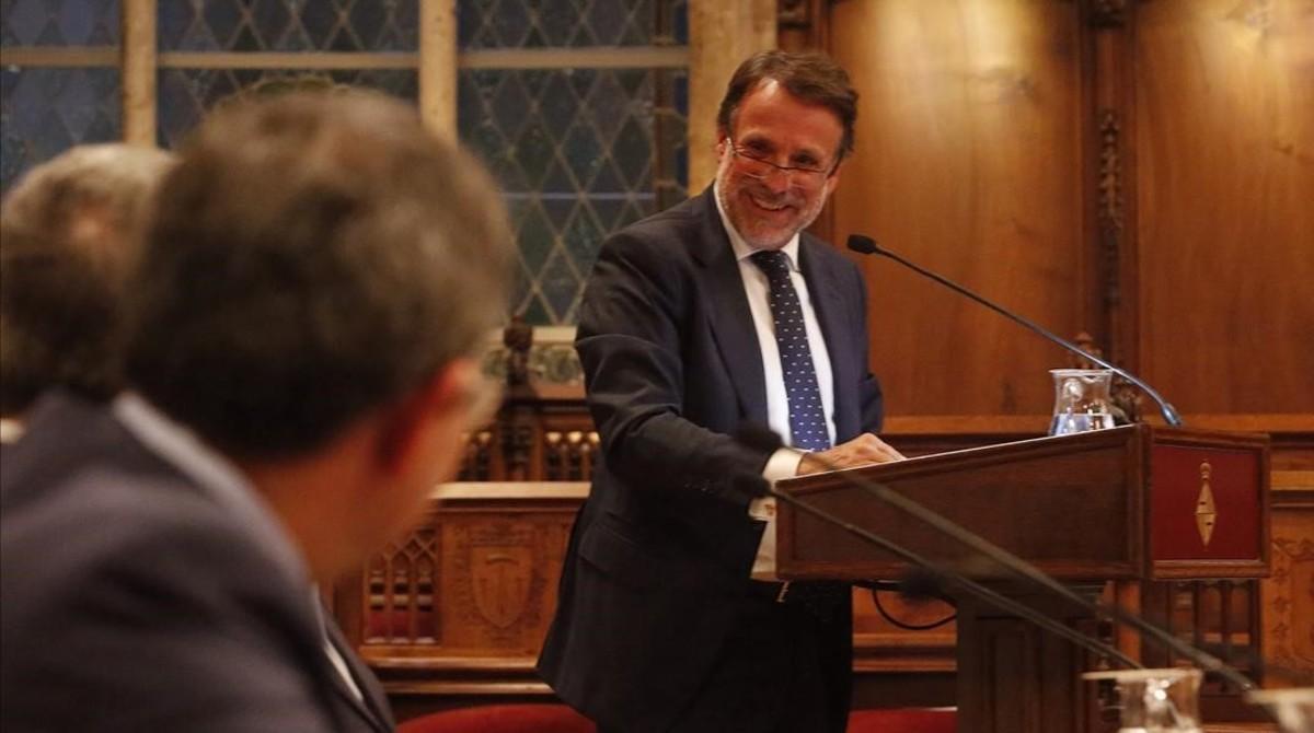 El presidente del Grupo Planeta, Josep Creuheras, en la inauguración del foto Barcelona Edita