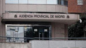 Puerta principal de la Audiencia Provincial de Madrid, donde será juzgada la joven que mató a su bebé recién nacida de 22 puñaladas.