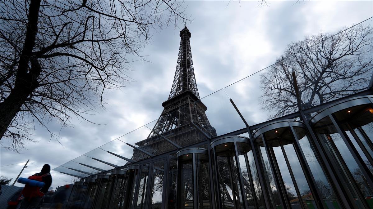 Vista de la torre Eiffel del pasado 31 de marzo.