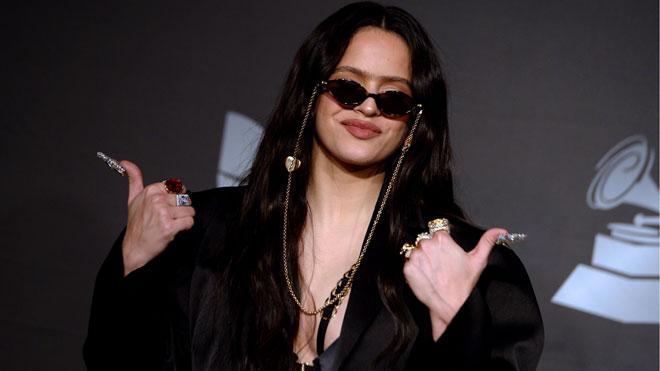 Rueda de prensa de Rosalía en los Grammy Latinos.