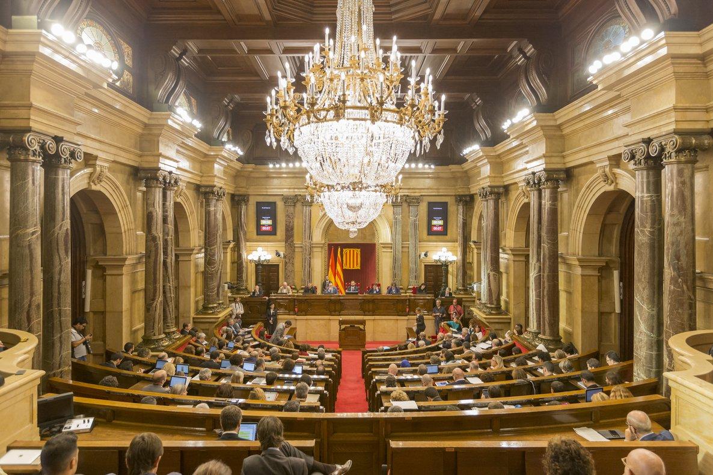 Sesión en el Parlament de Catalunya.