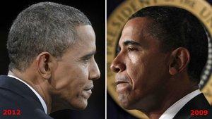 Barack Obama antes y después de su mandato como presidente de los Estados Unidos