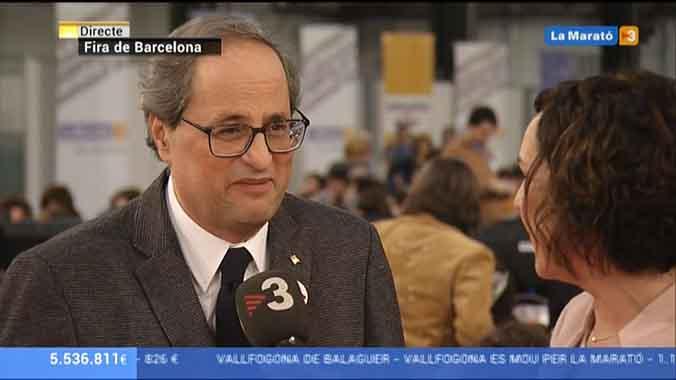 Quim Torra en La Marató (TV-3).