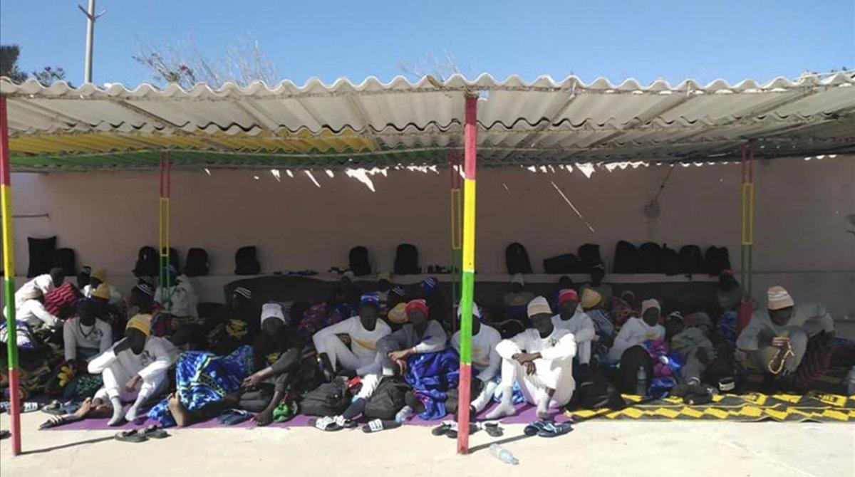 Supervivientes del naufragio ante las costas de Mauritania del pasado 4 de diciembre.