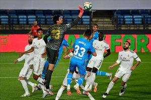 Imagen del partido que el Valencia disputó contra el Madrid el 18 de junio.