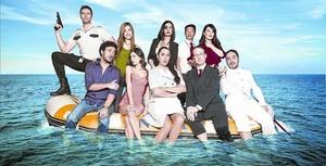 TRIPULACIÓN Los principales personajes de la comedia de Tele 5 'Anclados'.