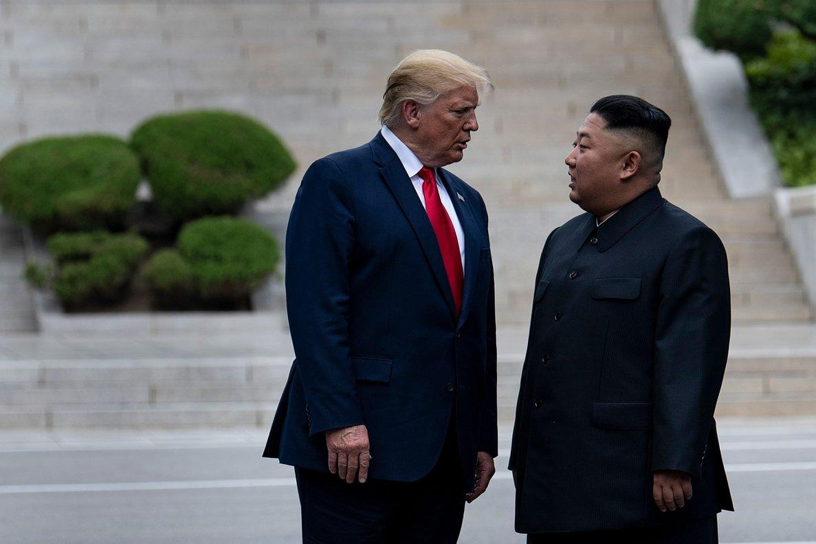 El presidente de los EEUU, Donald Trump, junto con el líder de Corea del Norte,Kim Jong-un.