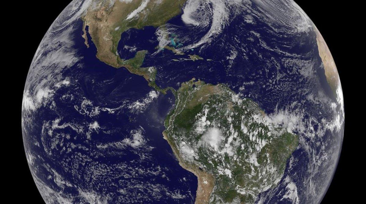 Una imagen espacial de la Tierra.