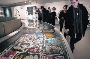 Una imagen de la exposición que el Festival Internacional del Cómic de Angulema dedicóa la revista satírica Charlie Hebdo en el 2015.