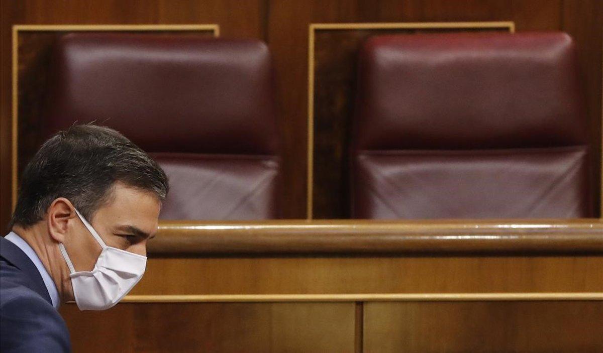 El presidente del Gobierno, Pedro Sánchez, el pasado miércoles en el Congreso.