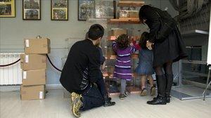 Urnas preparadas para las elecciones generales del 20-N en Catalunya