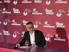 Víctor Font, durante la rueda de prensa del 12 de diciembre del 2019.