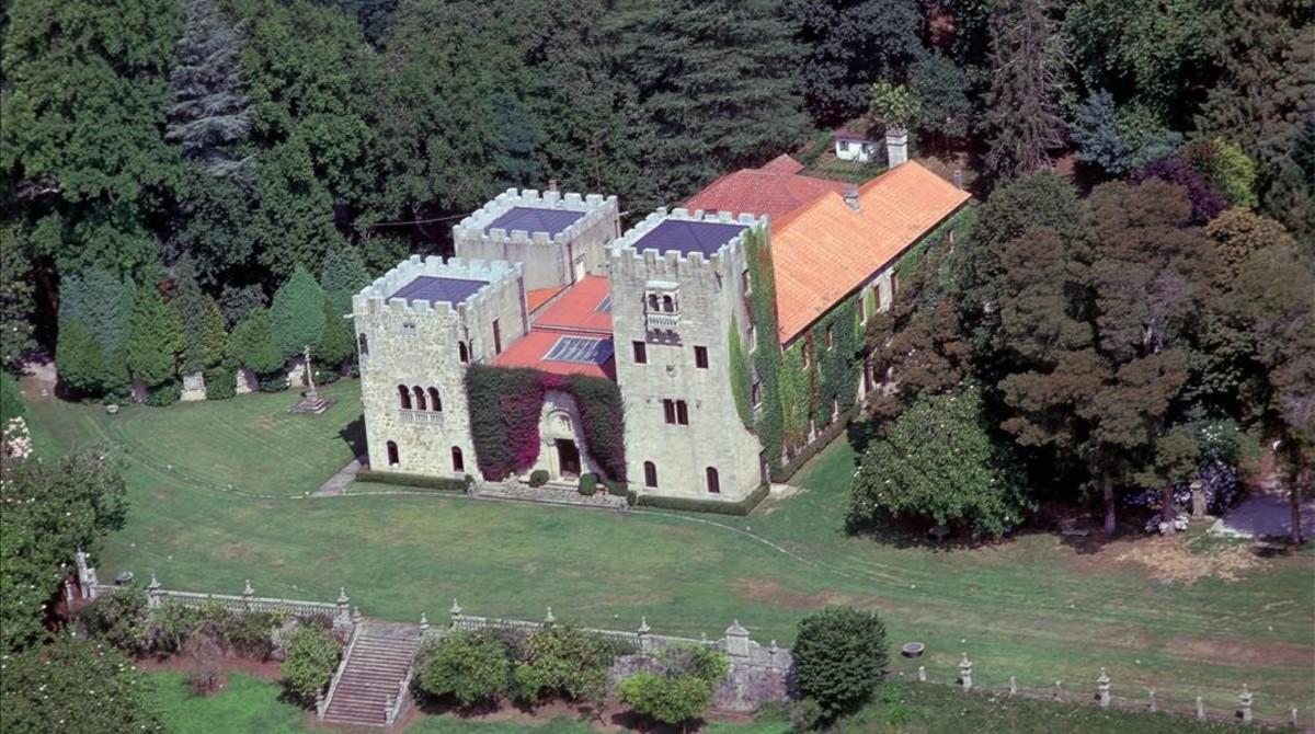 Vista aérea del Pazo de Meirás, en la localidad de Sada (A Coruña).