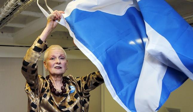 Westwood partidaria del sí en el referéndum de Escocia.