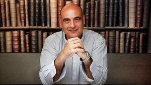 Xavier Bosch, el pasado julio en la librería Laie de Barcelona.
