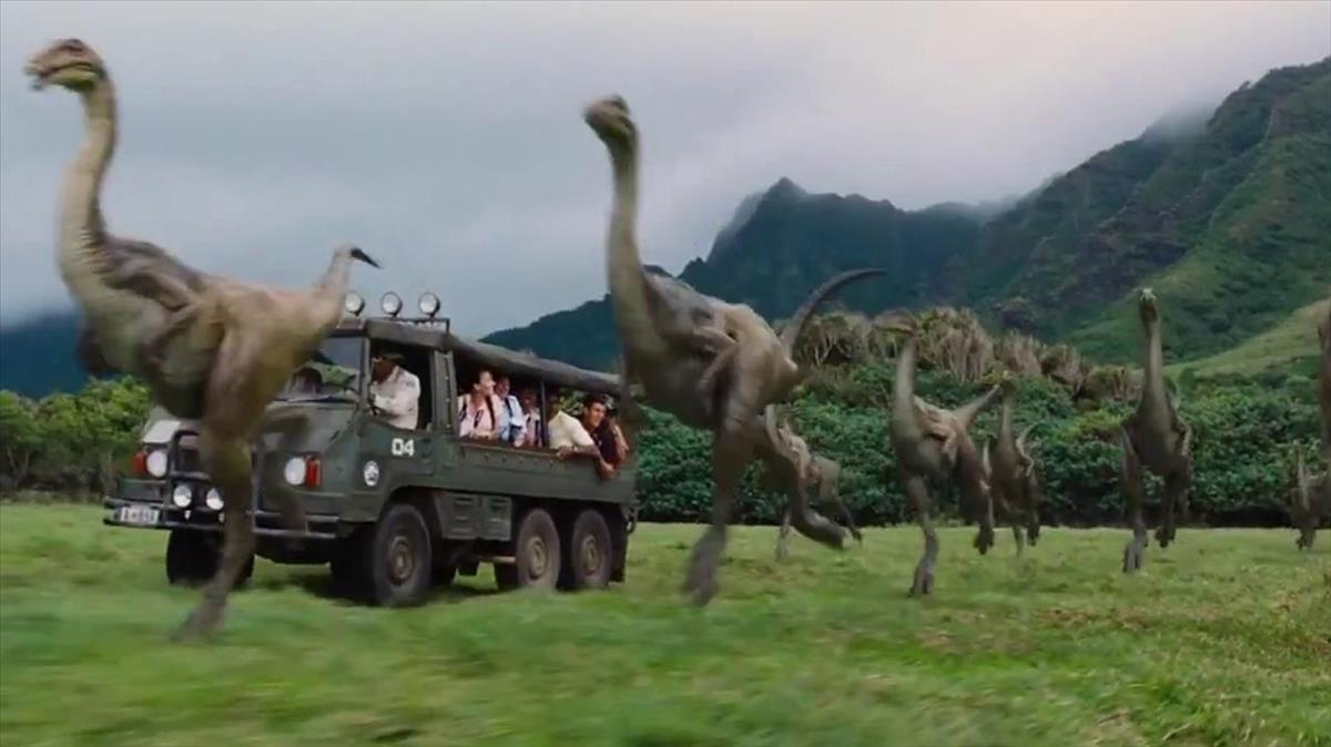 Imagen de la película Jurassic World.