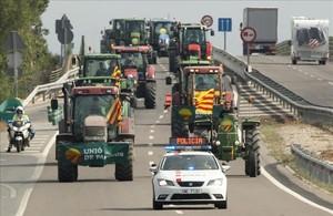 Marcha de tractores el año pasado.