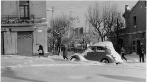 La nevada de 1962 en el barrio de Sant Andreu, en Barcelona, en el libro 'Meteorología extrema' de Jordi Mazón y Marcel Costa.