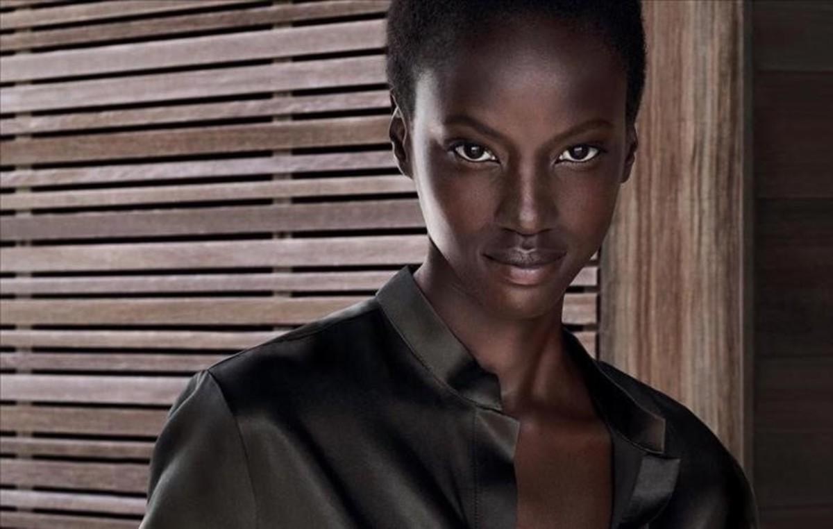 La modelo sudanesa Anok Yai.