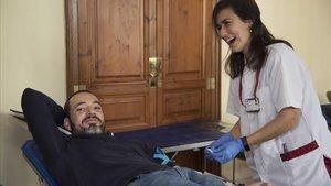 Alberto Juanilla: «Yo veo el final de la bolsa de sangre que donas»