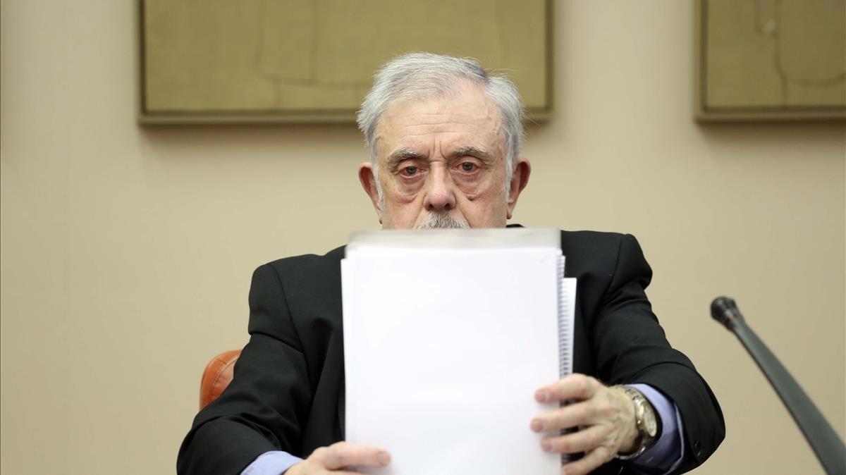 El secretario de Estado de la Seguridad Social, en la Comisión de Presupuestos del Congreso de los Diputados.