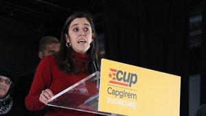 Anna Saliente, en el acto de la CUP este sábado.