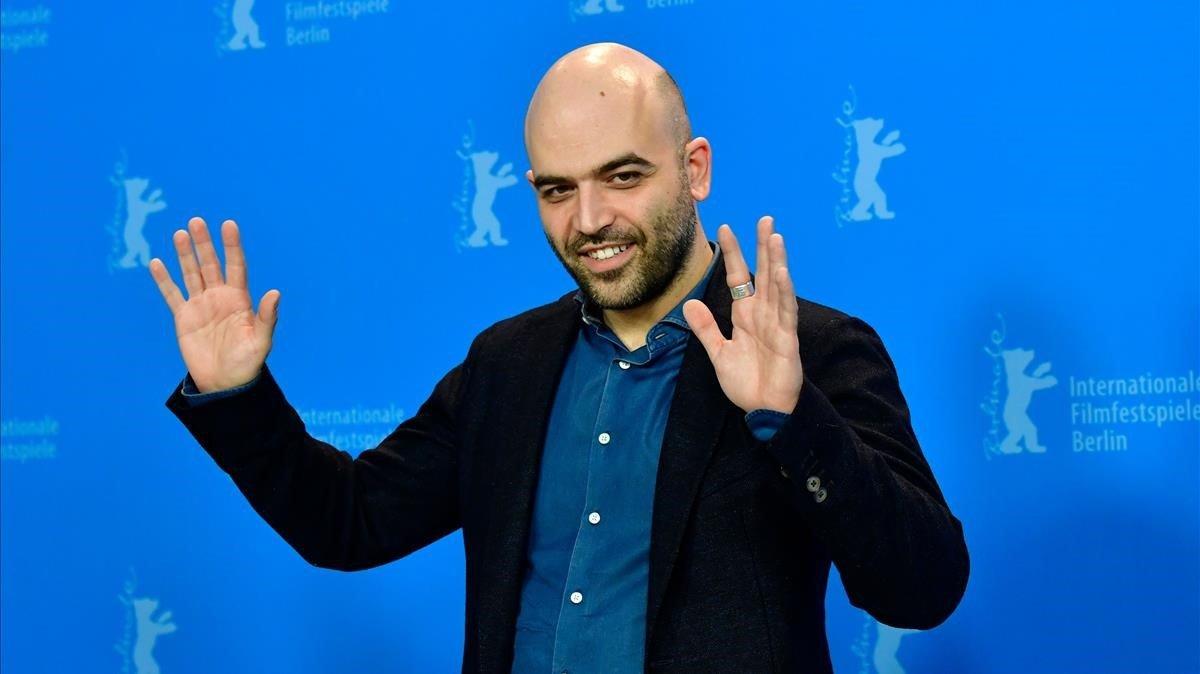 Roberto Saviano, en el festival de cine de Berlín, el pasado martes.