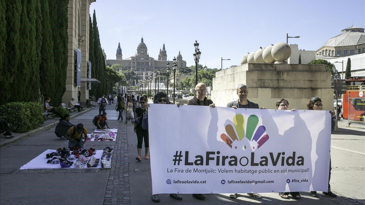 La plataforma #LaFiraoLaVida, la pasada primavera.