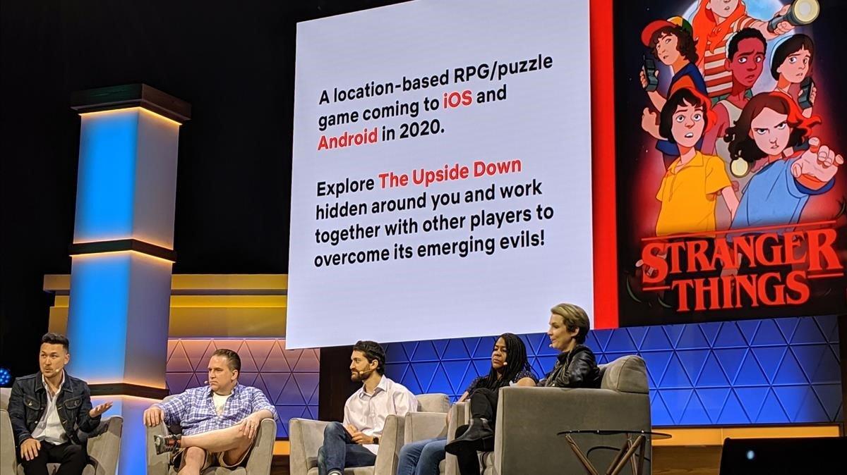 Presentación del videojuego de Netflix basado en la serie Stranger Things, en la feria E3 de Los Ángeles.