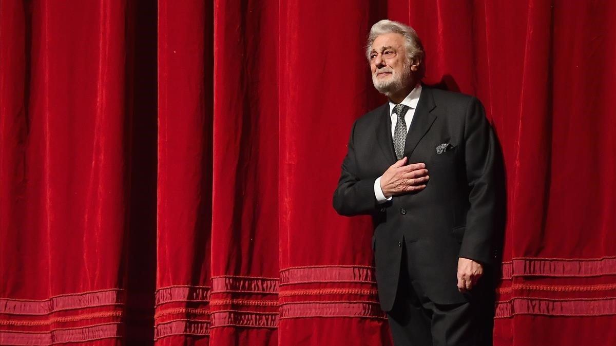 Placido Domingo, en la Ópera de Nueva York, en el 2018.