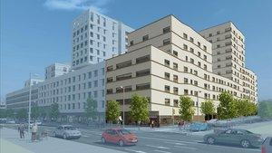 Recreación virtual de las viviendas sociales para mayores de 65 años que se contruiránen las Casernes de Sant Andreu.