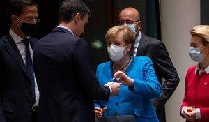 Merkel, Macron, Sánchez i Conte pressionen Rutte per desbloquejar el fons europeu