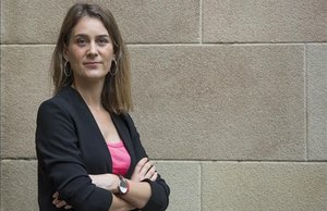La líder de Catalunya En Comú - Podem, Jéssica Albiach, en el Parlament.