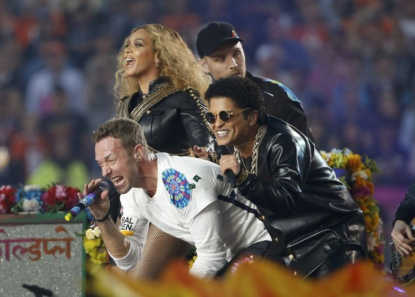 Beyoncé, Coldplay i Bruno Mars regnen a la Super Bowl