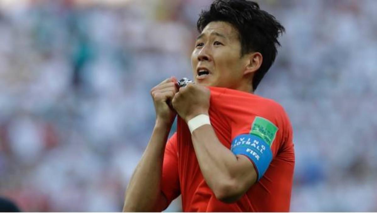 Heung-Min Son, durante el Mundial de Rusia.