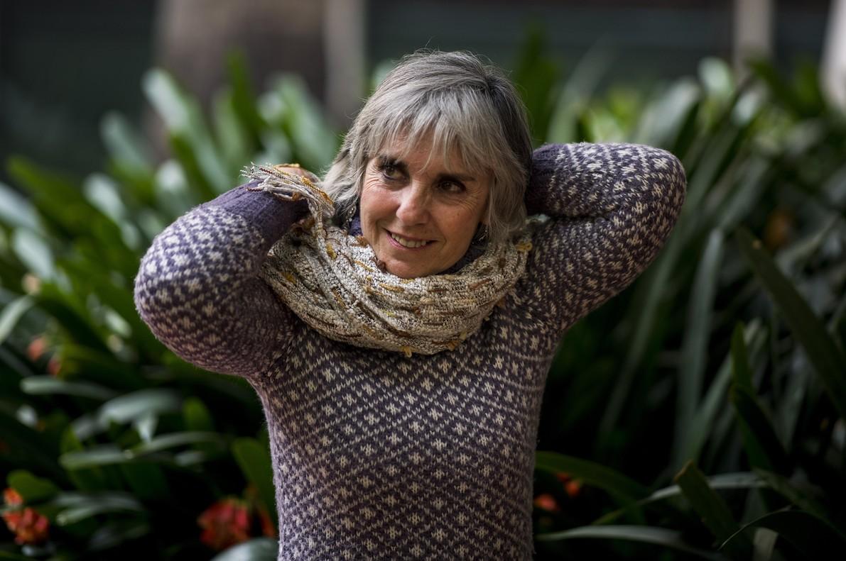 Berta Pichel, en el jardín de L'Ateneu Barcelonès.