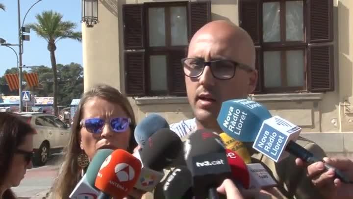 El alcalde de Lloret, Jaume Dulsat, habla sobre los hoteles clausurados.