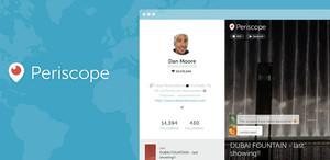 Apariencia de la nueva página de perfil de Periscope