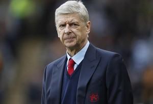 Arsène Wenger, en el partido que enfrentó al Arsenal con el Hull.