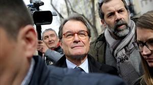 Artur Mas, a su salida del Tribunal Supremo.