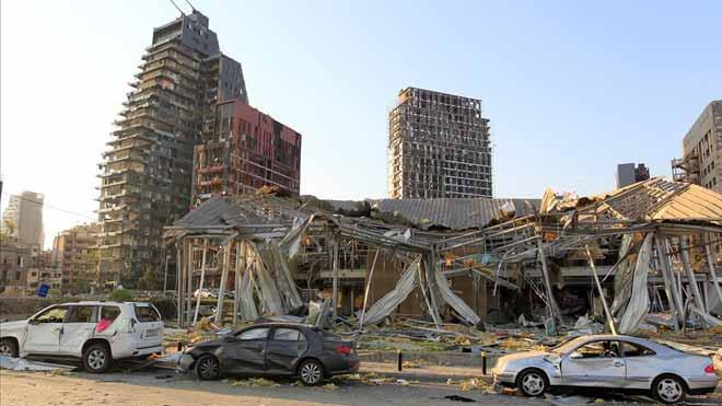 Así ha quedado Beirut tras la devastadora explosión de nitrato de amonio.