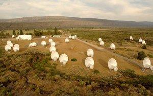 Telescopio Allen, en California, el principal utilizado actualmente por el proyecto SETI.