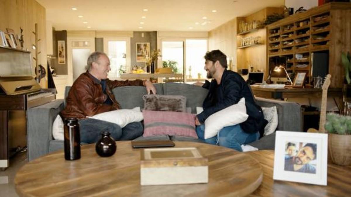 Bertín Osborne y Antonio Orozco, en 'Mi casa es la tuya'.